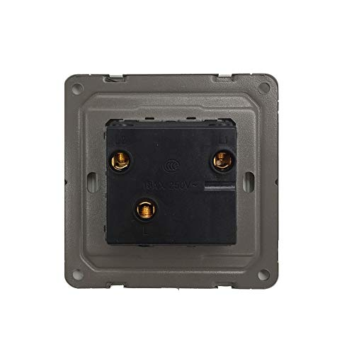Supermait Wall Switch Light Switch Double Button 2 Gang 1 Way Control On/Off Switches for Lamps Fans Appliances