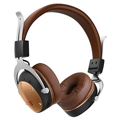 Bluetooth5.0 ワイヤレスヘッドホン ブルートゥース ヘッドフォン 高音質 有線無線兼用 12時間連続再生 マイク付き 通話可能 ノイズキャンセリング iPhone/iPad/Android対応