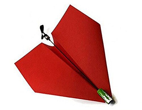 CRESONE2011 DIY紙飛行機パワーアップ3.0 DIY電気パワーアップモデルプレーン(Red)