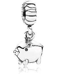 PANDORA Charms Sterling Silver Original Zodiac Pigs Dangle Charm