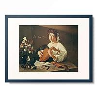 ミケランジェロ・メリージ・ダ・カラヴァッジオ Michelangelo Merisi da Caravaggio (Copy?) 「The Lutenist」 額装アート作品