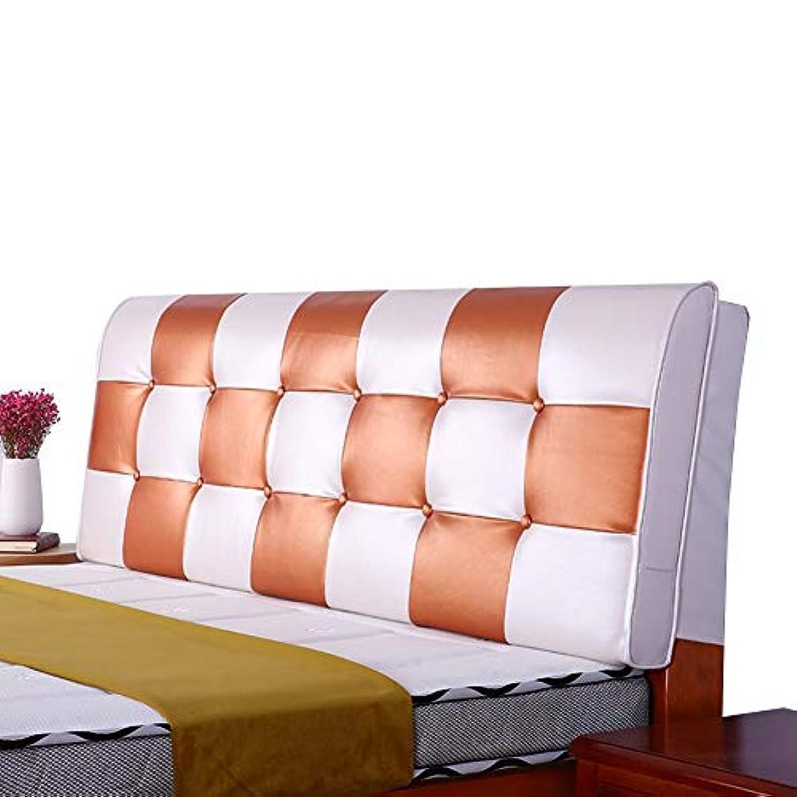 食事所持ドナーLIANGLIANG クションベッドの背もたれ 二人用ロングピロー ベッドレストベッド枕 ソファソフトバッグ PU 通気性 丈夫 5色、12サイズ (色 : Orange, サイズ さいず : 160x58x10cm)