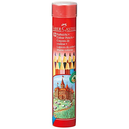 油性色鉛筆 丸缶 12色セット TFC-CPK/12C