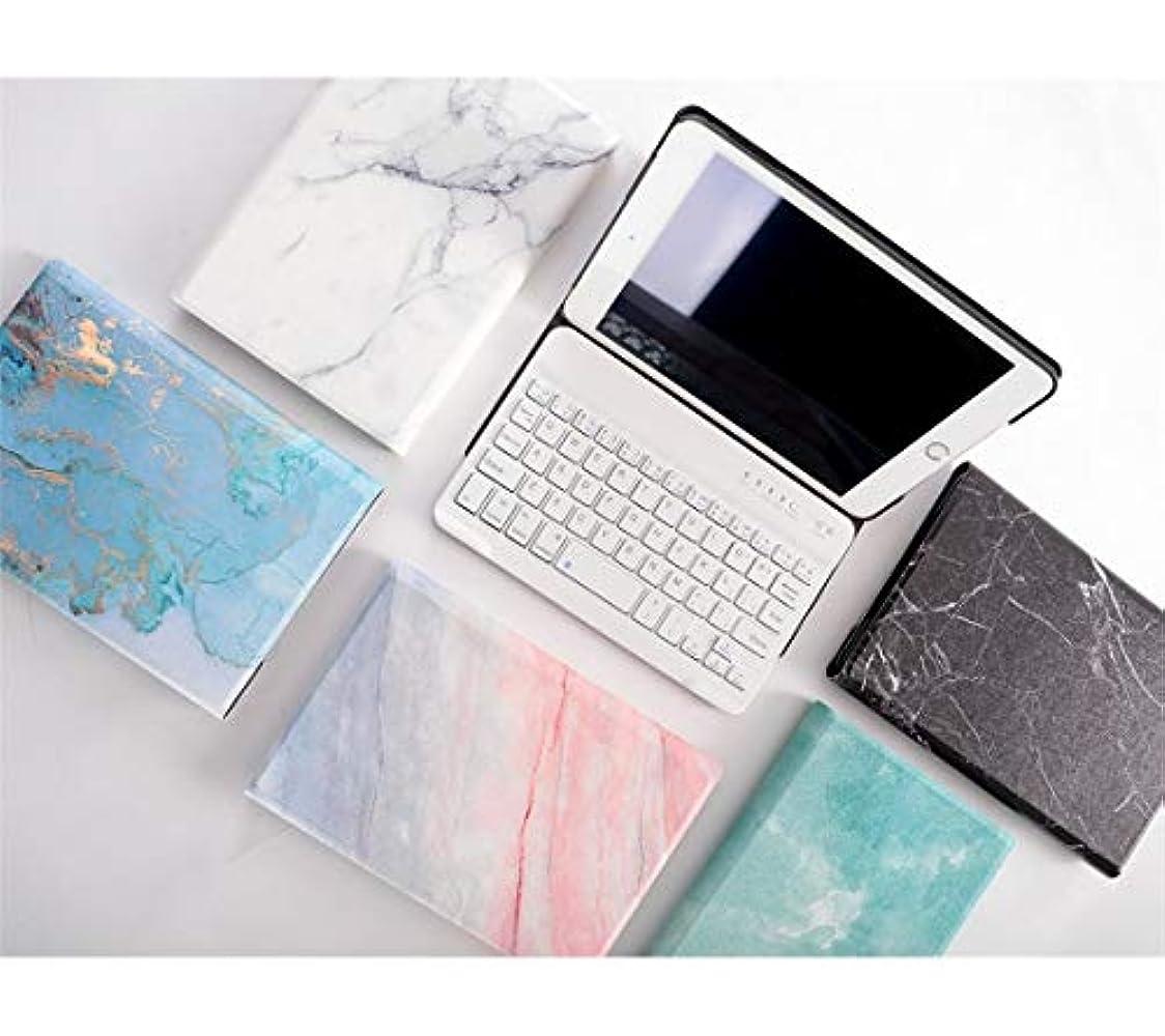 宿命物理的な勝利した女性人気大理石柄ミニ4 キーボードケース iPadmini4ケース カバーお mini A1538 A1550 分離式キーボード付きPODITAGI (iPadmini4, ブルー+金)