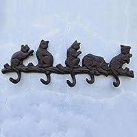 ヨーロピアンスタイル 鋳鉄工芸 錬鉄フック 猫型エンボススタイリングフック 壁コートフック