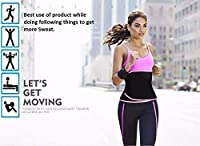 ADA Waist Trimmer Belt Slimming Neoprene Ab Belt Trainer for Faster Weight Loss, Stomach Fat Burner Wrap Tummy Control/Belly Tummy Yoga Wrap Exercise Body Slim Look Belt 94 cm Size - Pink
