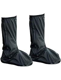 VORCOOL 防水レインシューズカバー 滑り止め オーバーシューズ Galoshes 再利用可能なブーツカバー 雨の日 旅行 サイクリング