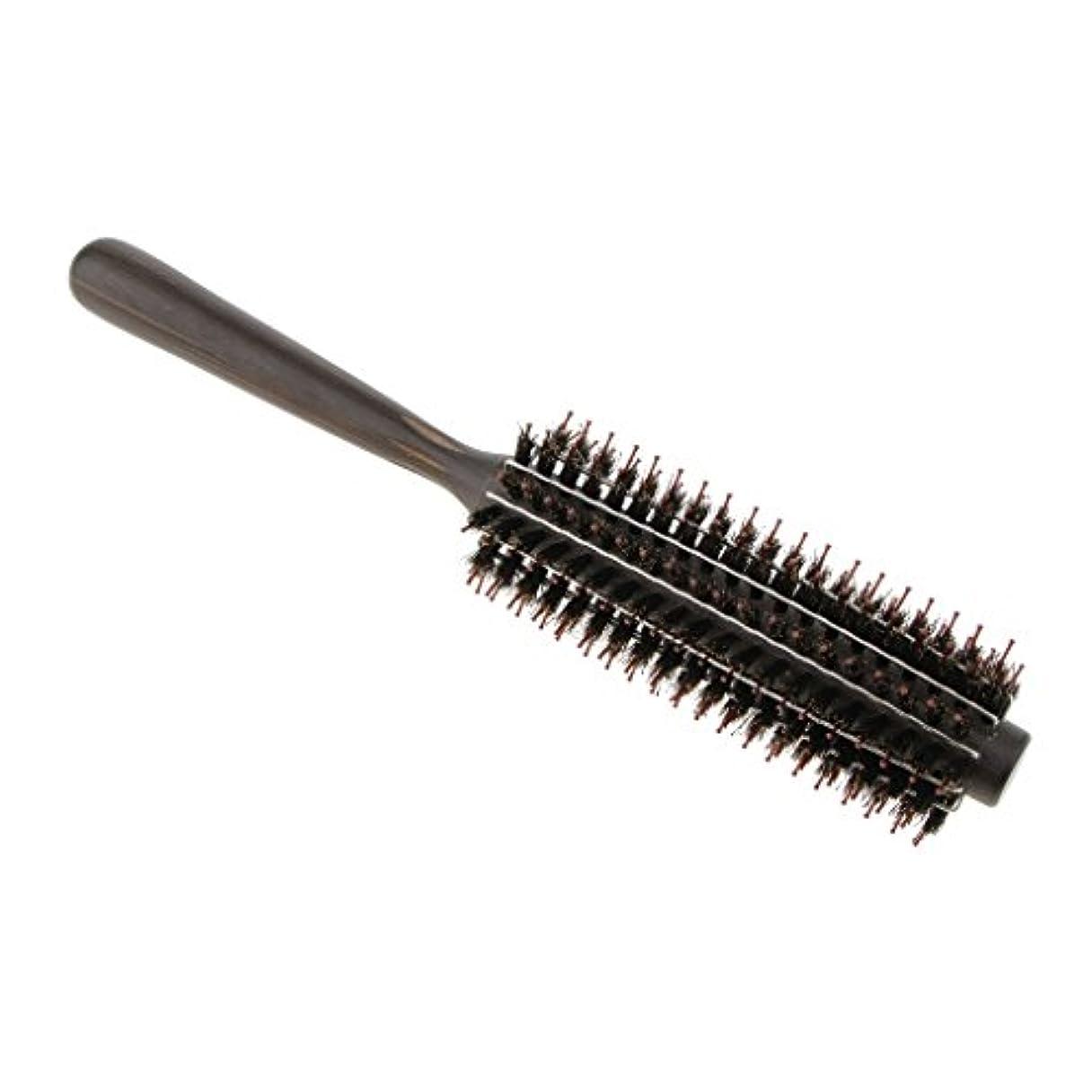 気分が良い調和のとれたとんでもないPerfk ロールブラシ ヘアブラシ カール 巻き髪  ヘアコーム 3サイズ選べる  - M