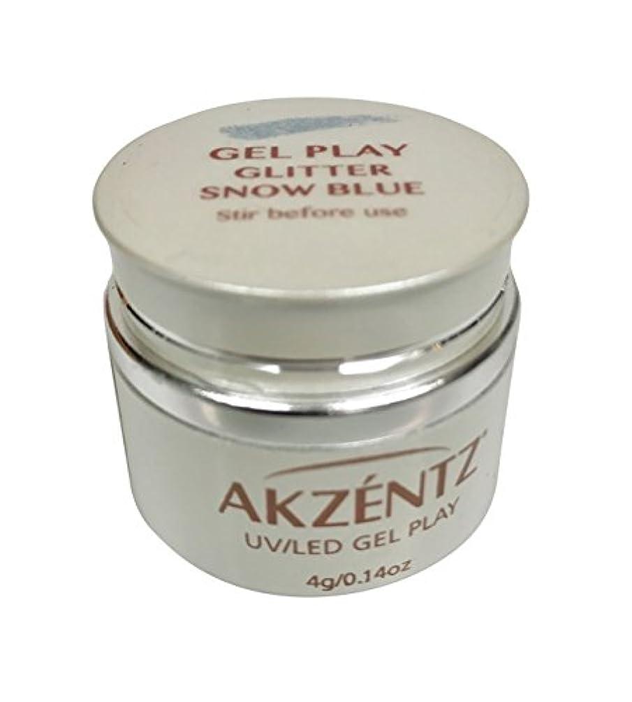 幾分邪悪な睡眠AKZENTZ(アクセンツ) UV/LED ジェルプレイ グリッター スノーブルー 4g