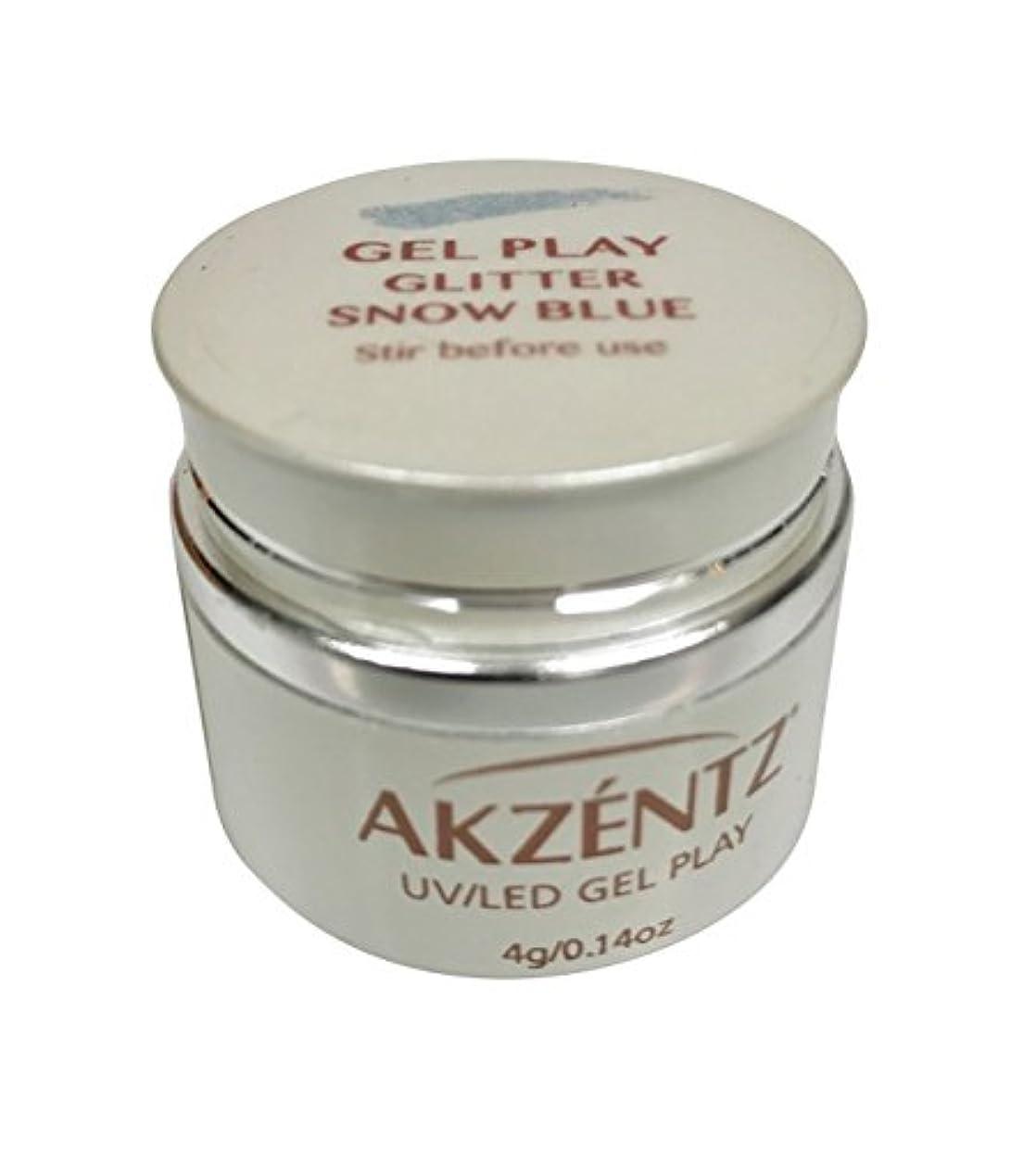 ホールドオール乳剤軽食AKZENTZ(アクセンツ) UV/LED ジェルプレイ グリッター スノーブルー 4g