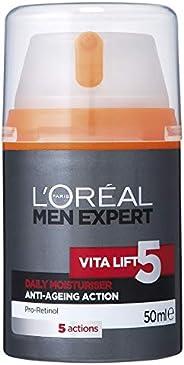 L'Oréal Paris Men Expert Vita Lift 5 Anti-Ageing Moisturiser For Men, Firms and Brightens, with Pro-Retino