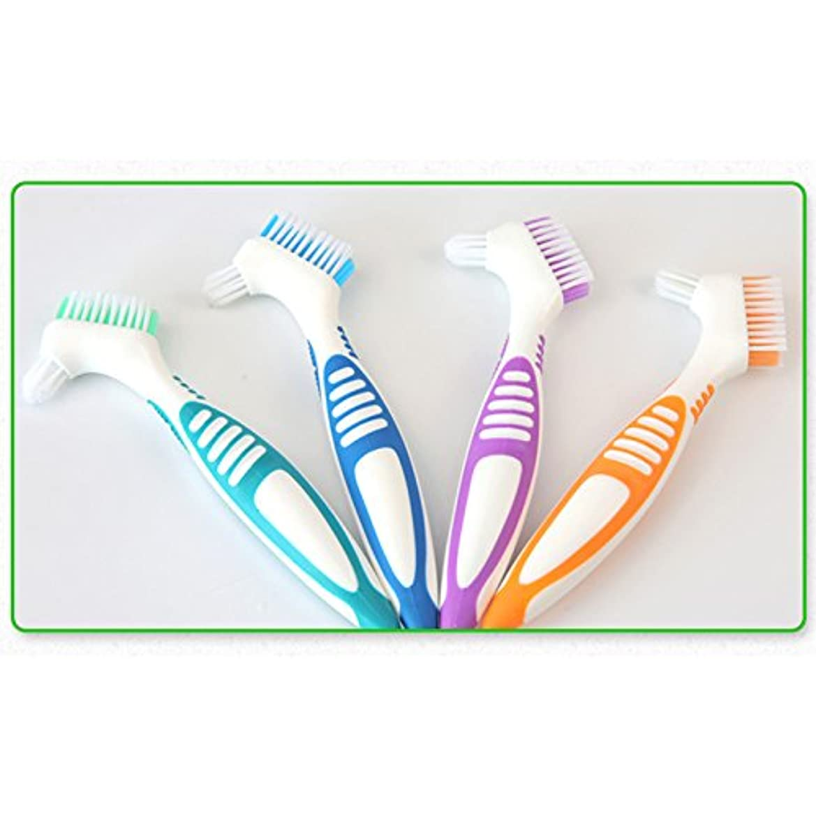 Liebeye 偽歯ブラシ 口腔ケアツール 歯洗浄 ブラシポータブル 多層ブリストル ブルー