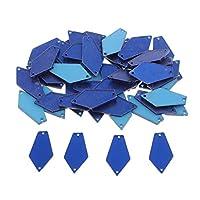 Hellery 50ピース/個アクリルのラインストーンで縫うフラットバックDIYドレスを作るスクラップブッキング - 青