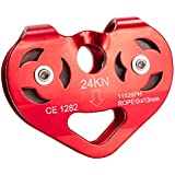 FITYLE 24KN Mountaineering Caving Zip Line Cable Trolley Zipline Fast Speed Pulley Double Speed