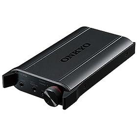 ONKYO ポータブルヘッドホンアンプ DAC搭載 ハイレゾ音源対応 ブラック DAC-HA200(B)