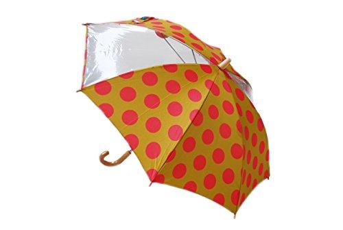 (レディーメイド) Ready Mades ドット チェック ボーダー 傘/雨傘 [キッズ・ジュニア] (40cm/45cm/50cm) 800-06301 (40cm, 464 キャメル ドット)