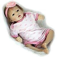 Reborn新生児赤ちゃん人形Rootedモヘアガールズベビー人形20インチ50 cm LifelikeシリコンToy with布ボディ子供誕生日ギフト