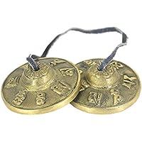Homyl チベット 仏教 瞑想 シンバルベル 全2材質選べる - 黄銅