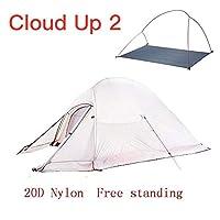 超軽量キャンプテント防水屋外クライミングテント20Dナイロンバックパックテント付きフリーパッド,3