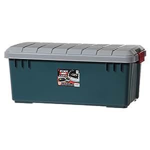 アイリスオーヤマ ボックス RVBOX 800 グレー/ダークグリーン 幅78.5x奥行37x高さ32.5cm