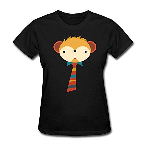 流れ星 Cute Monkey 可愛い 猿 人気 オシャレ コットン レディース Tシャツ 半袖