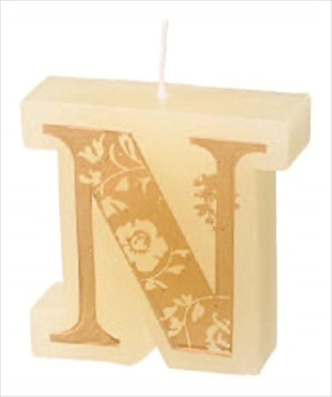 ソファー公爵夫人先駆者カメヤマキャンドル(kameyama candle) イニシャルキャンドルミニ 「 N 」