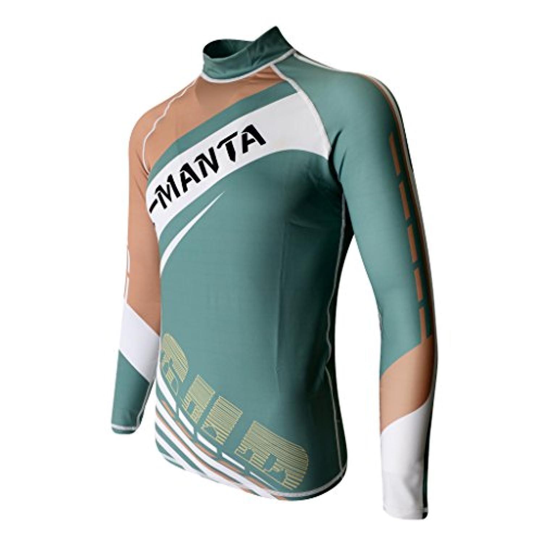 Dovewill メンズ 長袖 スリム ラッシュガード UPF 50+ 水着 ウェットスーツ トップ 3カラー4サイズを選べる