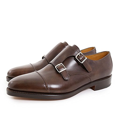 JOHN LOBB ジョンロブ メンズ 9795 WILLIAM 2 MISTY CALF ウィリアム2 ミスティカーフレザー ダブルモンク ドレスシューズ 革靴 ストレートチップ ビジネス カラーDarkBrown DarkBrown 11 [並行輸入品]