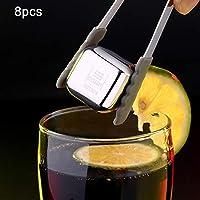 ウイスキーウォッカリキュールのための8PCSステンレス鋼チリング再利用可能なアイスキューブ,