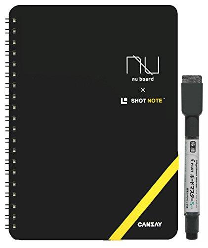 欧文印刷 ホワイトボード CANSAY nu board ヌーボード A5判 SHOT NOTEタイプ NSIPM3BK08