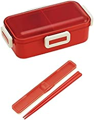 【セット買い】ふんわり盛れる ドーム型フタ 弁当箱 530ml + 箸 箸箱 セット 18cm レトロフレンチ オレンジレッド