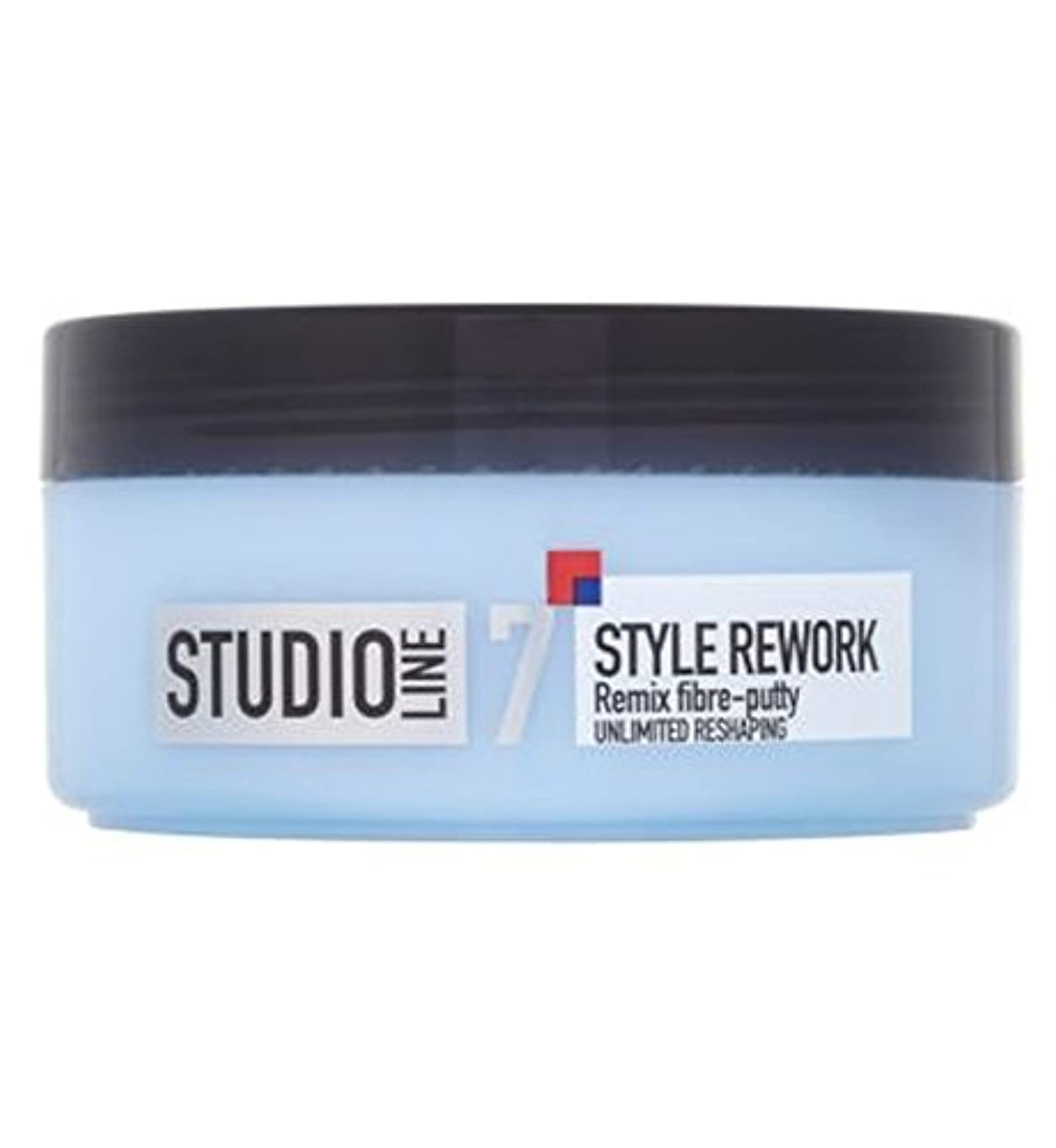 脅威ストラップ重くするL'Oreallスタジオラインスタイルリワークリミックス繊維パテ150ミリリットル (L'Oreal) (x2) - L'Oreall Studio Line Style Rework Remix Fibre-Putty...