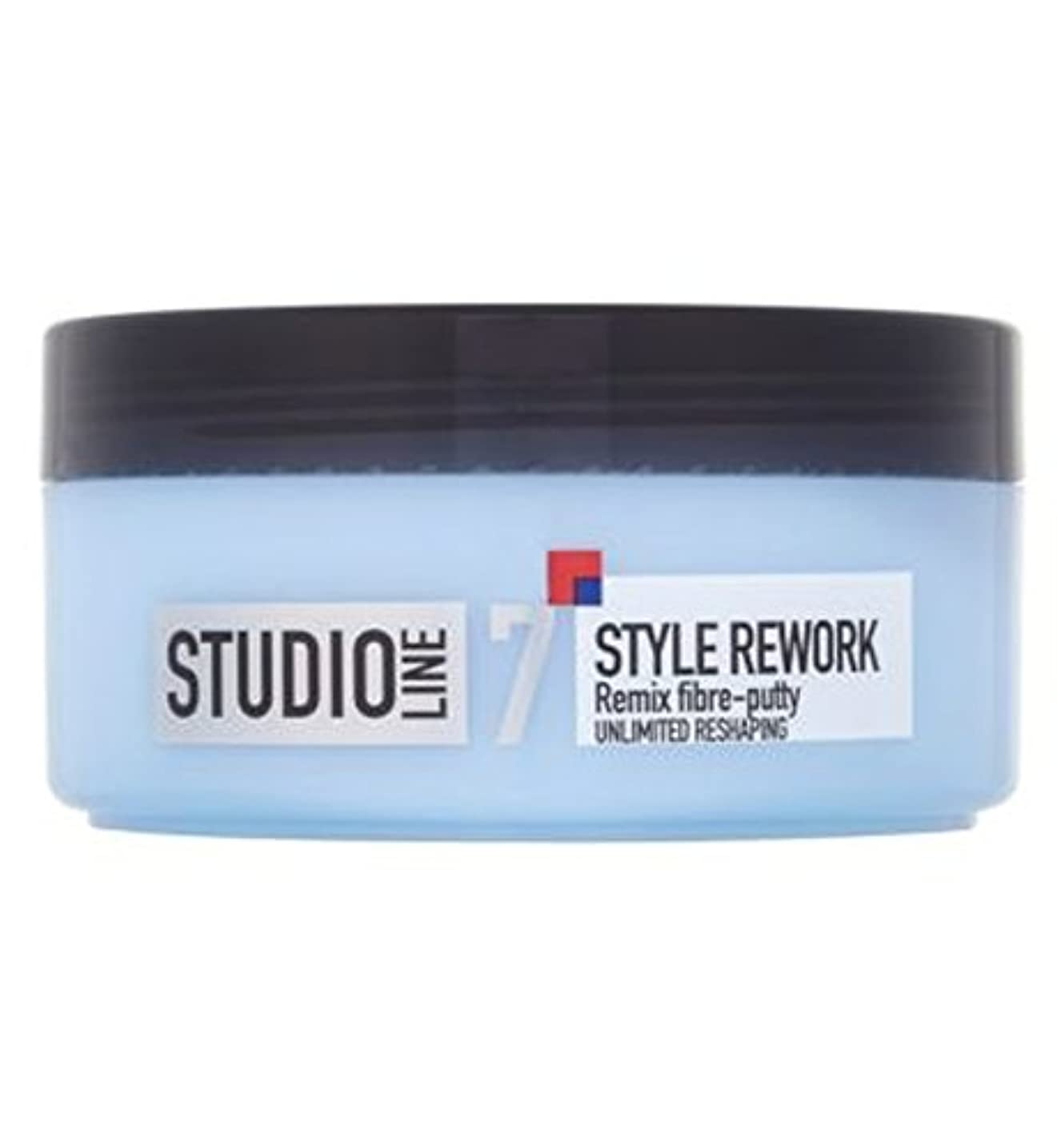 新年解釈ロードされたL'Oreallスタジオラインスタイルリワークリミックス繊維パテ150ミリリットル (L'Oreal) (x2) - L'Oreall Studio Line Style Rework Remix Fibre-Putty...