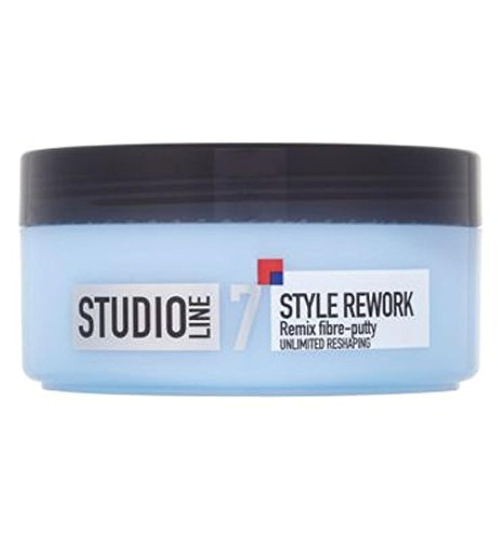 協同霧維持L'Oreall Studio Line Style Rework Remix Fibre-Putty 150ml - L'Oreallスタジオラインスタイルリワークリミックス繊維パテ150ミリリットル (L'Oreal...