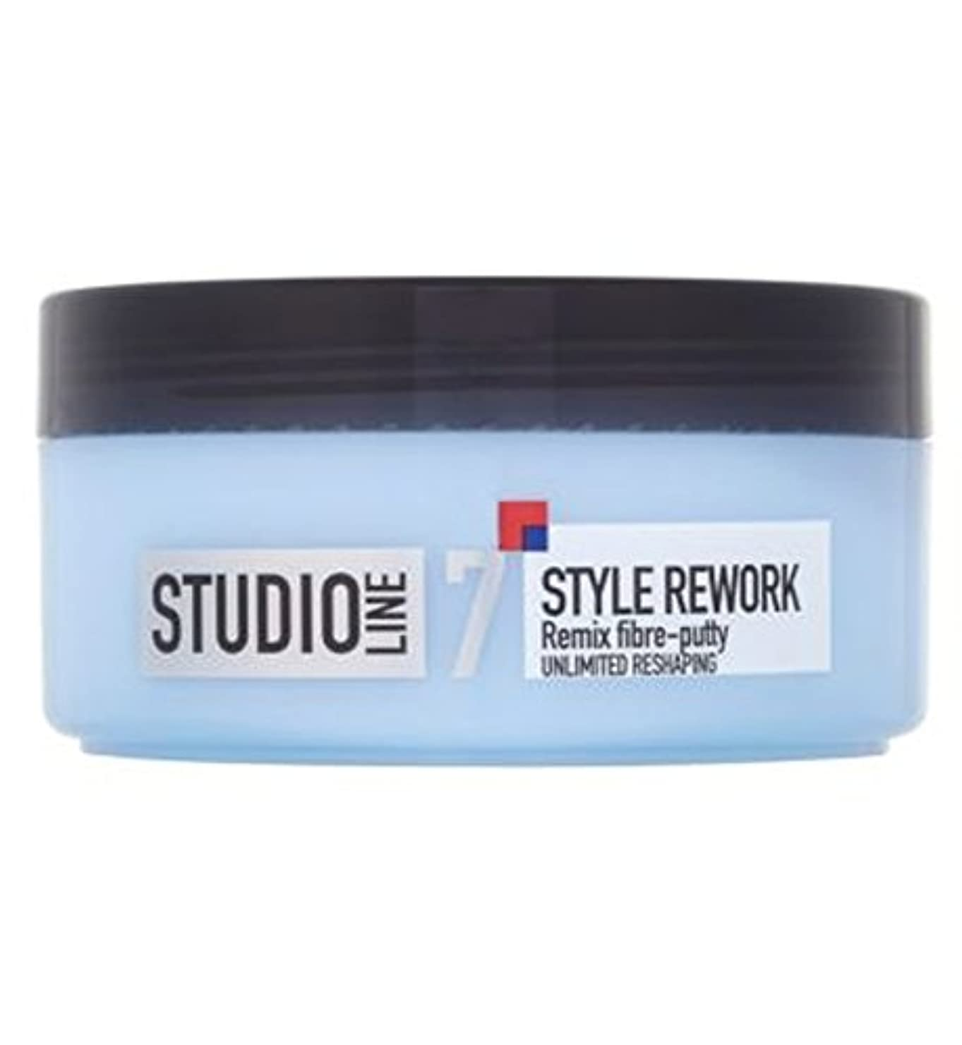 無意識ガジュマルながらL'Oreallスタジオラインスタイルリワークリミックス繊維パテ150ミリリットル (L'Oreal) (x2) - L'Oreall Studio Line Style Rework Remix Fibre-Putty...