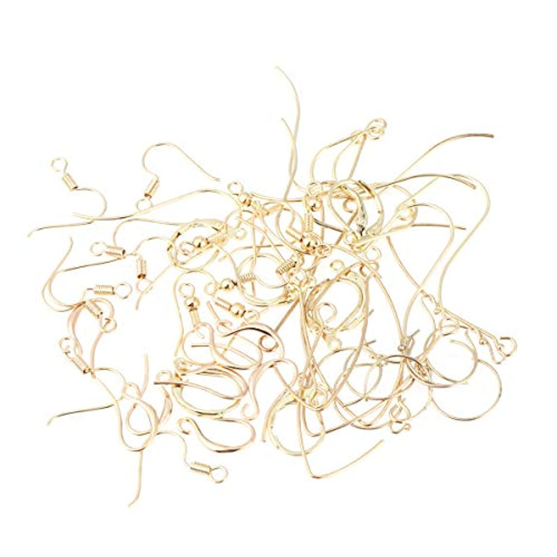 隔離する活気づける集まるHealifty 56個 イヤリング フック イヤワイヤー ボールコイル diy工芸品 ジュエリー