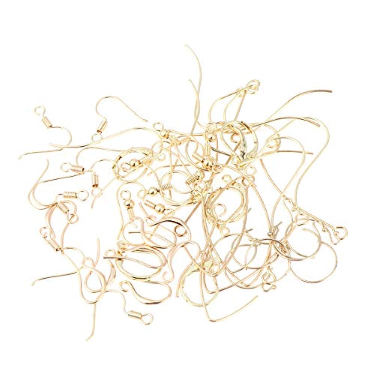 情熱的廃止電極Healifty 56個 イヤリング フック イヤワイヤー ボールコイル diy工芸品 ジュエリー