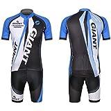 サイクルウェア ジャージ 自転車ウェア サイクリングウェア ブルー 上下セット 半袖 Lサイズ