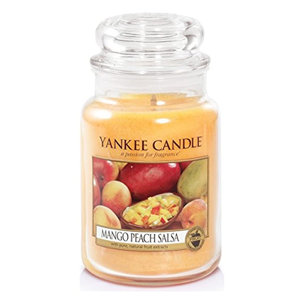 ドレイン安らぎ公平Yankee Candle Large Jar Candle, Mango Peach Salsa by Yankee Candle