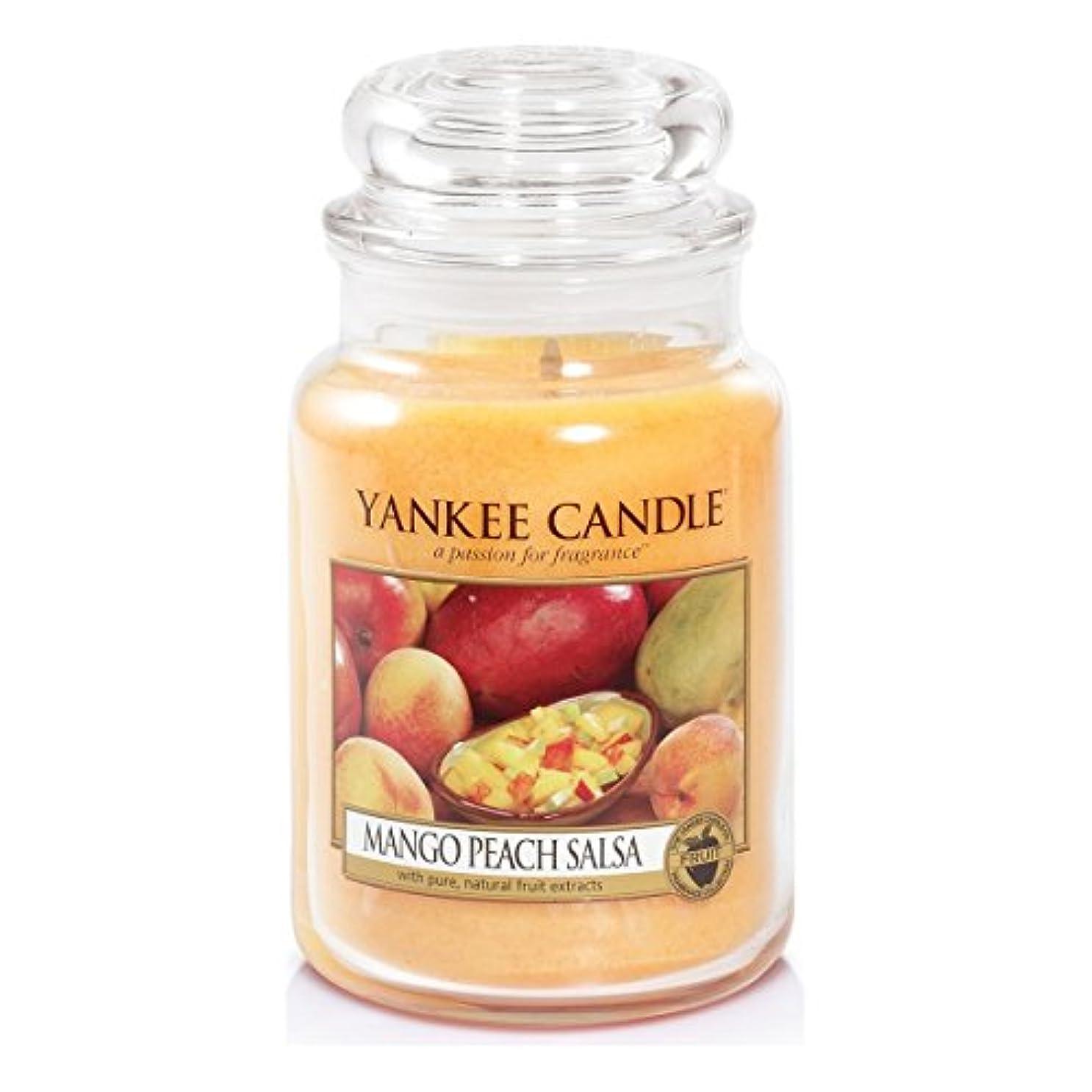 柔らかい足控えめななぜならYankee Candle Large Jar Candle, Mango Peach Salsa by Yankee Candle