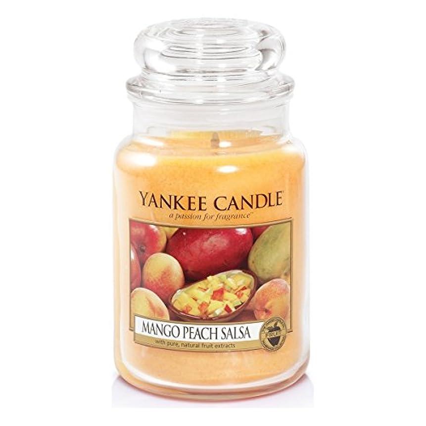 ダウンタウン極めて連隊Yankee Candle Large Jar Candle, Mango Peach Salsa by Yankee Candle