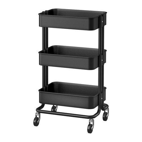 RoomClip商品情報 - ☆2016☆NEW☆ IKEA RASKOG ワゴン ブラック 35x45x78 cm ※こちらの商品はブラックになります