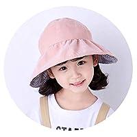 子供の漏れ春ツアー子供春と夏の日焼け防止日焼け防止帽の女の子潮の帽子の女の子の外国のファッション韓国,お勧め3〜12歳,54センチメートル(調整可能),ピンク