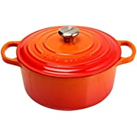 Le Creuset [ ル?クルーゼ ] SIGNATURE シグニチャー Cocotte ronde 22cm ココットロンド Orange オレンジ 両手鍋 新生活 [並行輸入品]