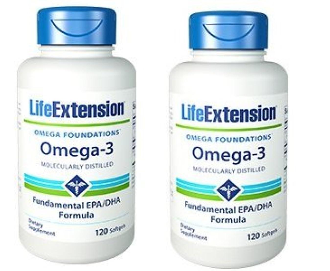 スクリーチ攻撃的出撃者【海外直送品】【2本セット】Life Extension - Omega-3 as many commercial fish oils 120 ソフトジェル