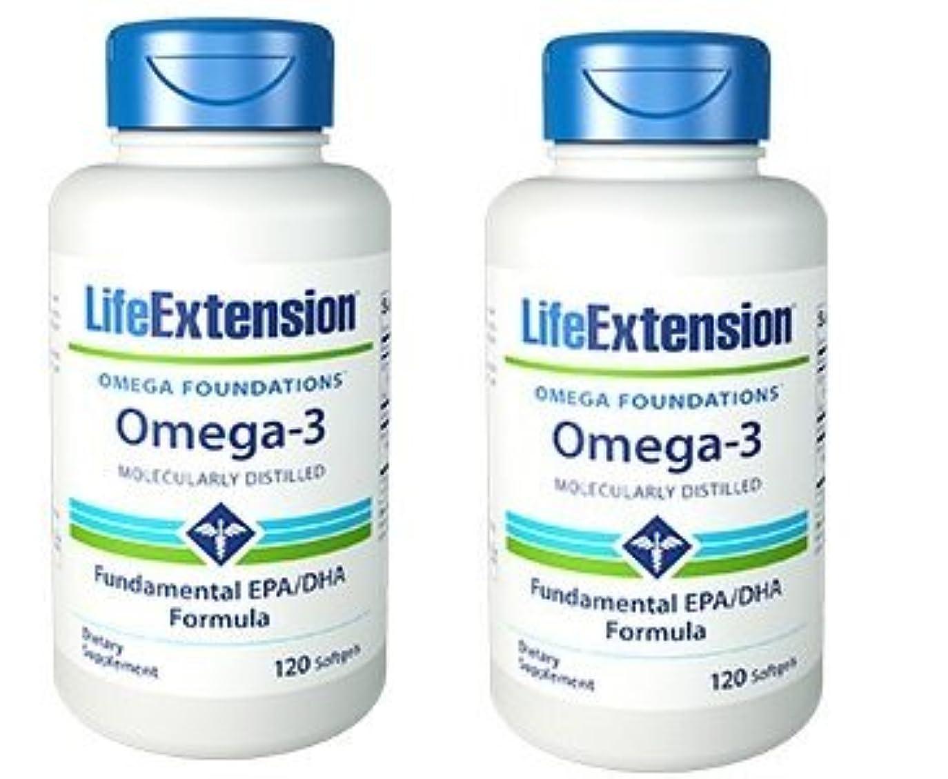 哺乳類海外原子炉【海外直送品】【2本セット】Life Extension - Omega-3 as many commercial fish oils 120 ソフトジェル