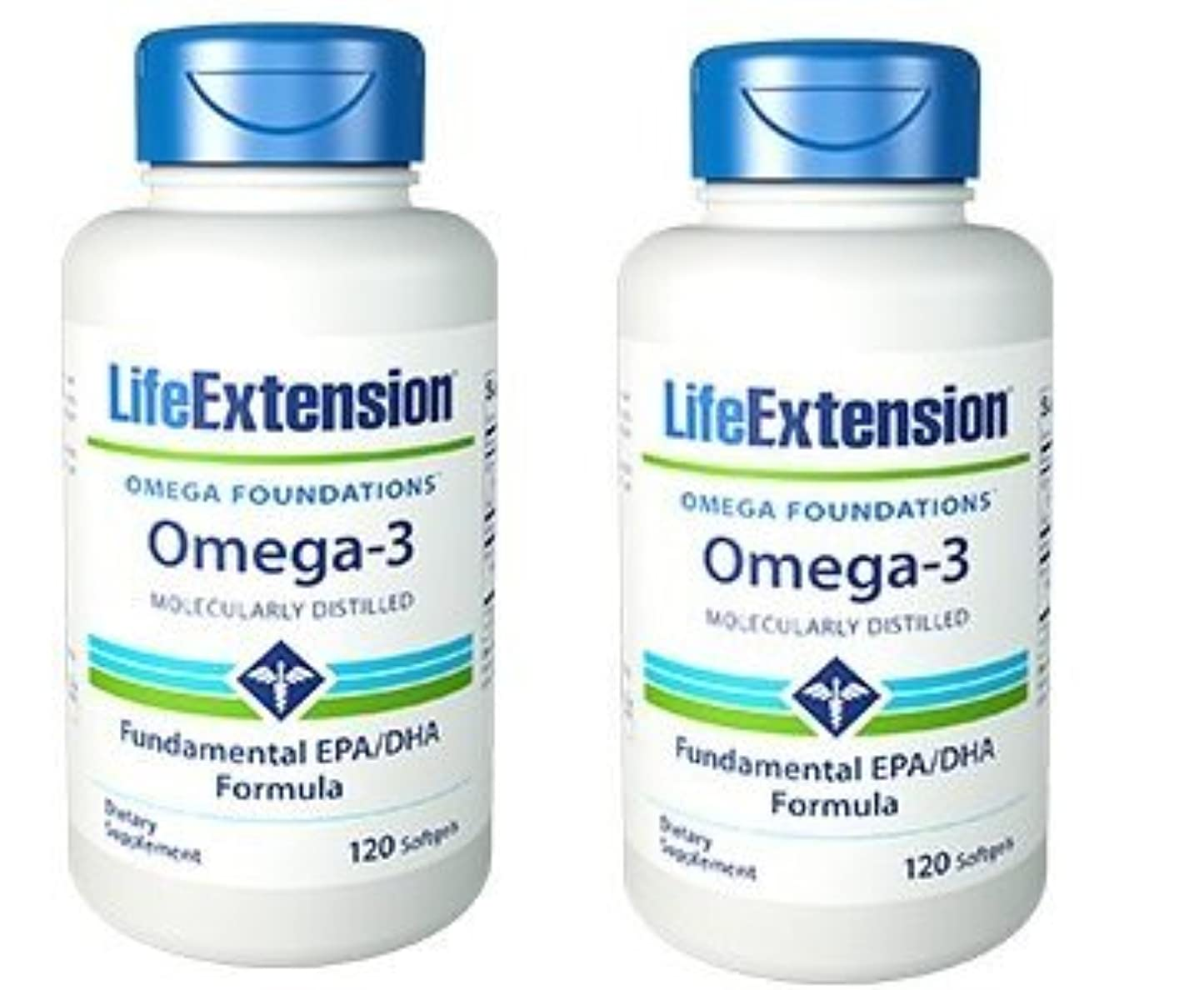 クランプ小麦怒っている【海外直送品】【2本セット】Life Extension - Omega-3 as many commercial fish oils 120 ソフトジェル