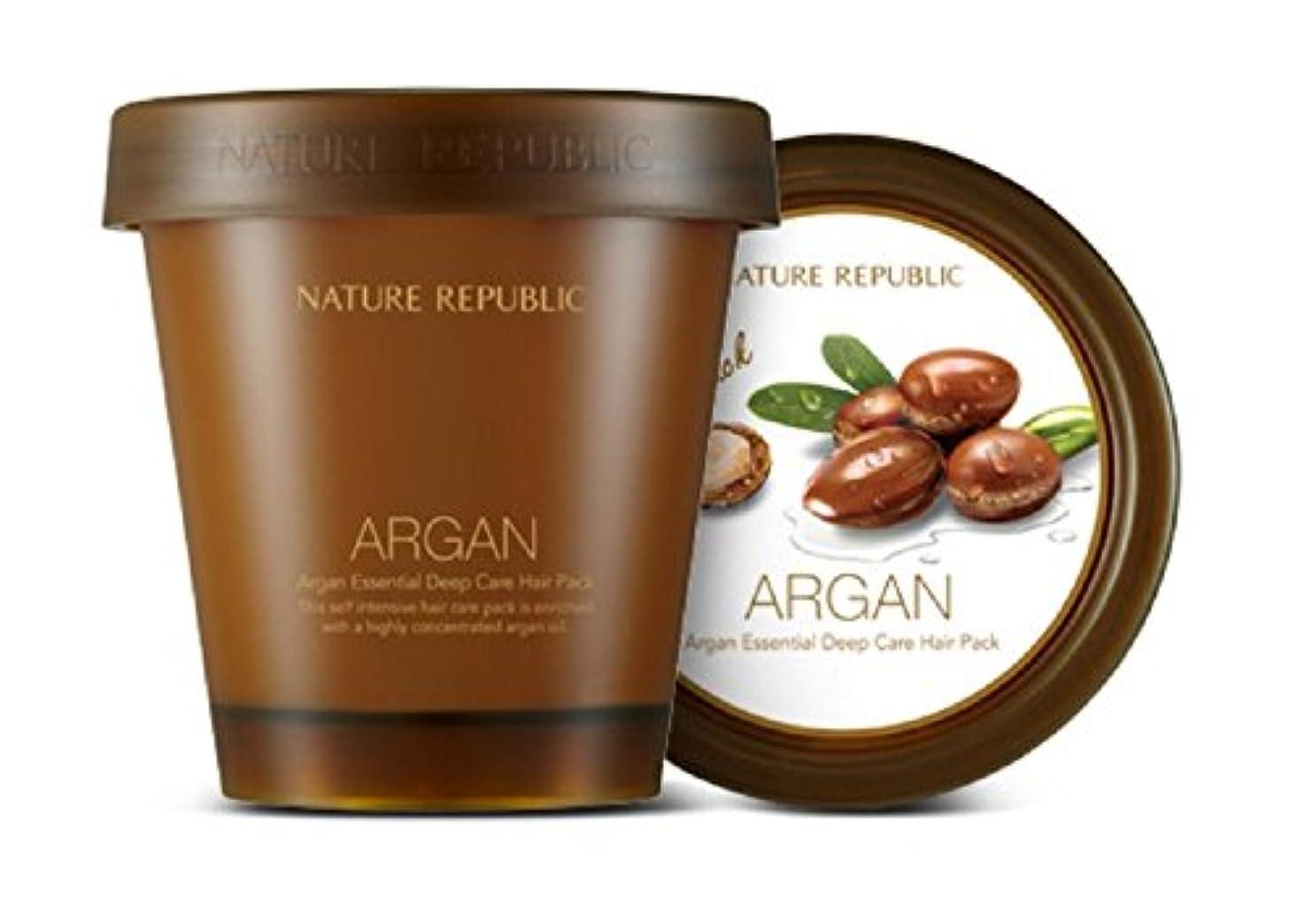 彼女消える土器【Nature Republic】アルガンエッセンシャルディープケアヘアパック(200ml)ARGAN ESSENTIAL Deep Care Hair Pack