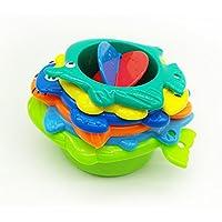 sohapy 6pcs最初のスタックカップに海動物Childs Preschool教育Stackerおもちゃ