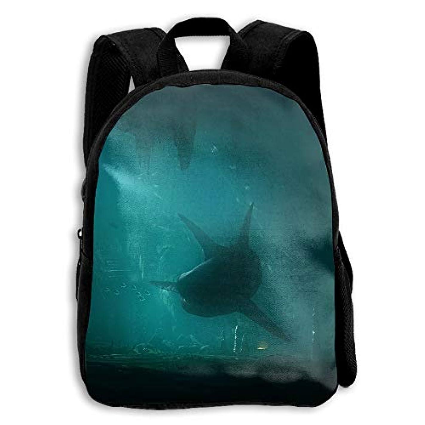 雇用者相互磁石キッズ バックパック 子供用 リュックサック 水中サメ ショルダー デイパック アウトドア 男の子 女の子 通学 旅行 遠足